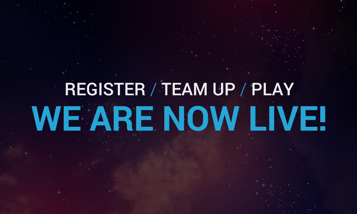 Register, team up and play